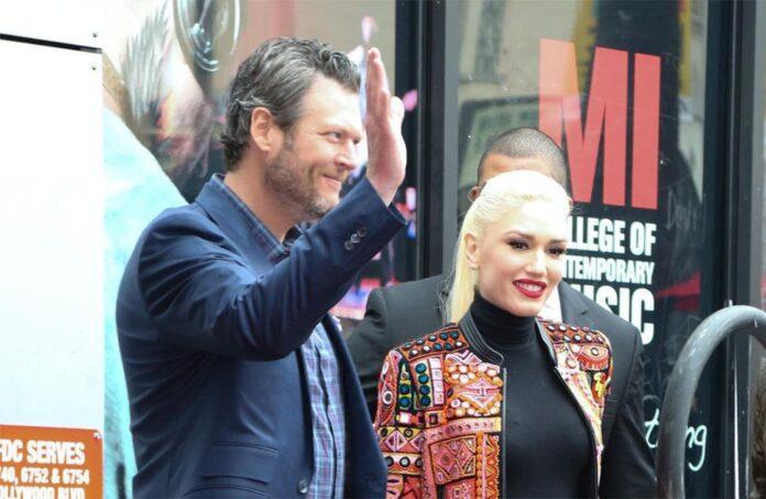 Blake Shelton and Gwen Stefani's wedding did not include Adam Levine